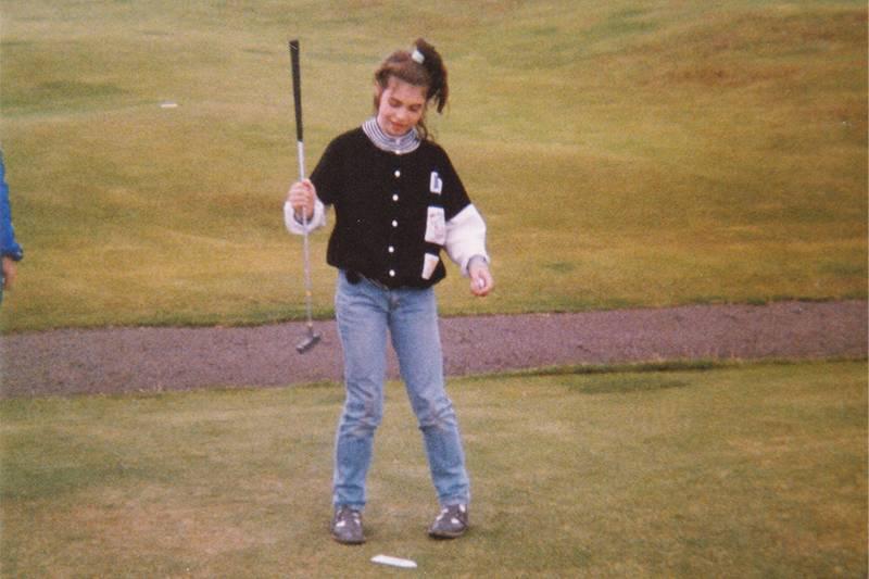 Girl on a golf course