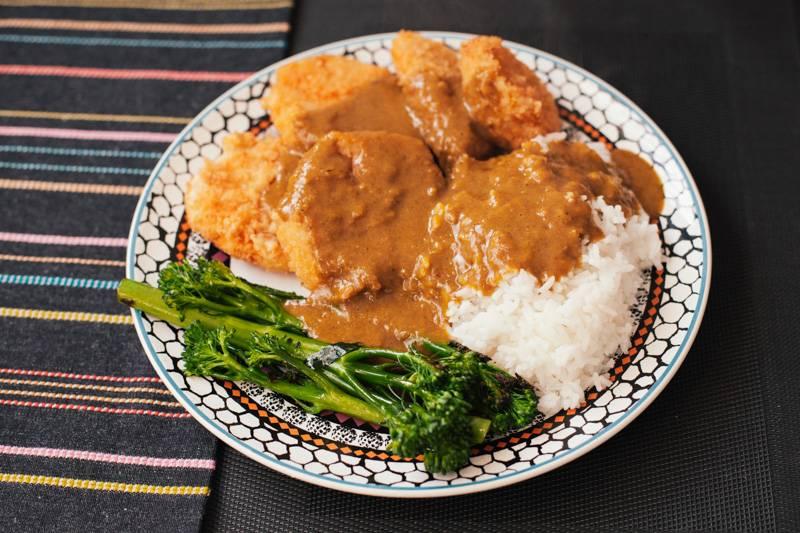 Homemade vegan katsu curry