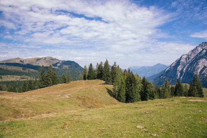 Mountain scene in Postalm, Austria