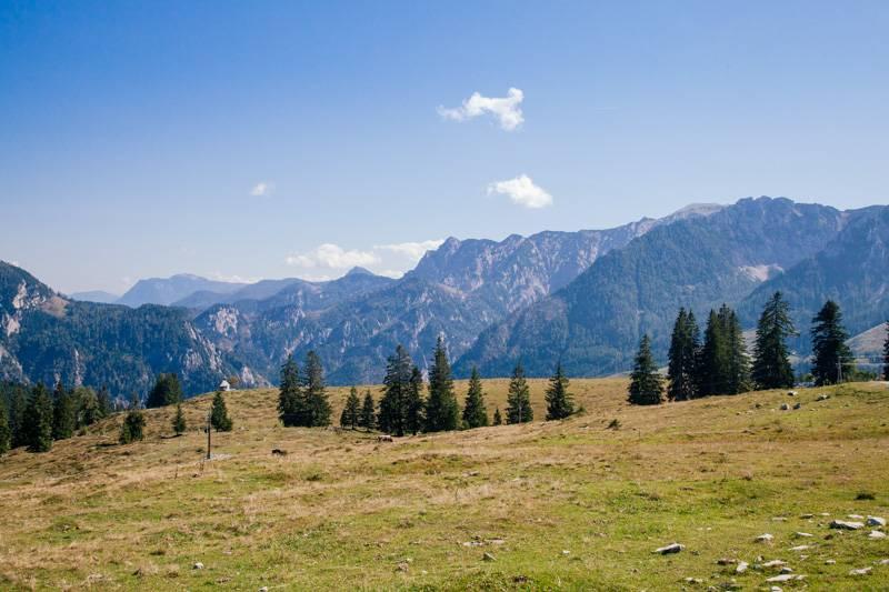 Mountain view in Postalm, Austria