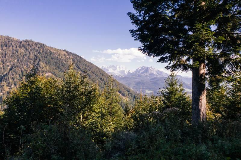 View of mountains on the Postalm scenic road, Austria