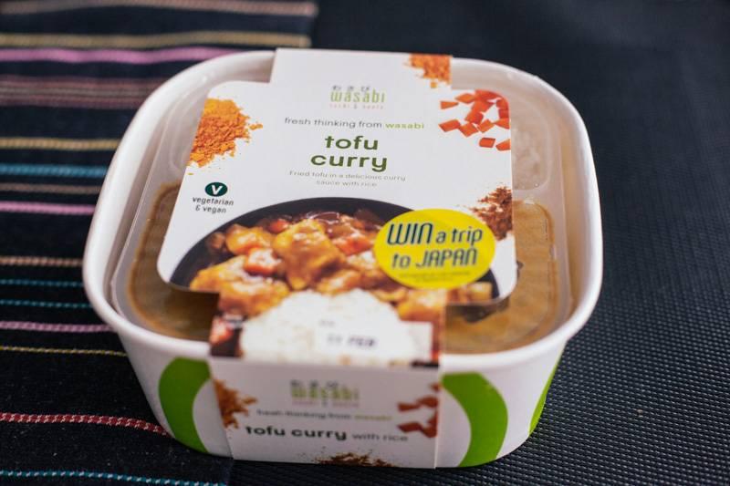 Wasabi tofu curry ready meal