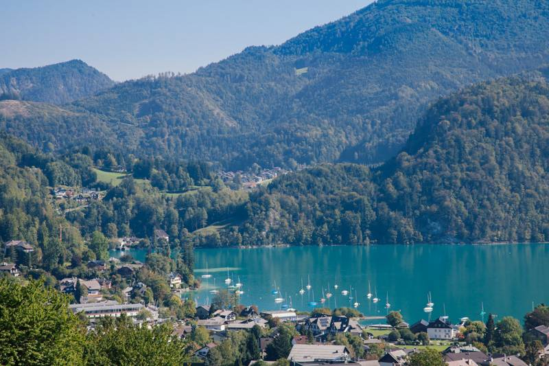 View of Wolfgangsee in Austria