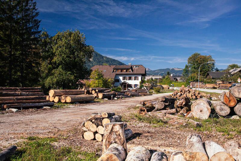 Timber yard Weiẞenbach, Austria